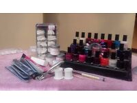 COMPLETE ACRYLIC NAIL KIT + NAIL POLISHES