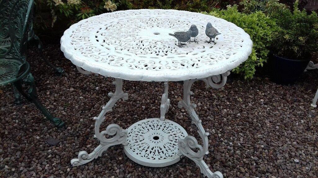 Heavyweight Cast Iron Aluminium Metal Garden Patio Table In