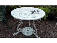 Heavyweight Cast Iron / Aluminium Metal Garden Patio Table