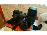 Sony Alpha SLT-A58 Digital Camera plus 3 Lenses