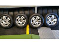 VW Genuine 15 alloy wheels + 4 x tyres 195 65 15 M+S Snow