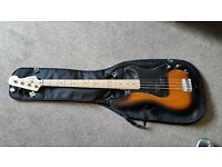 Squire Affinity P Bass with Tuner and Amp