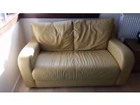 Yellow-leather, 2 person sofa
