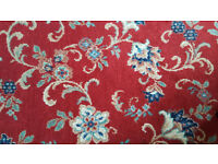 Red pattern quality wool carpet