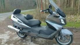 Suzuki Burgman 650 scooter motorbike LOW MILES 2011 60 Plate