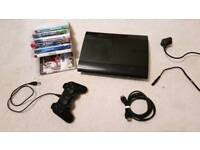 Playstation 3 Super slim, controller and games