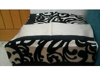 DOUBLE DUVET SET - Black and Champagne colour
