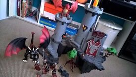 Playmobile castle with Playmobile dragons and loads of accessories