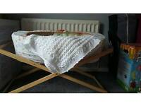 Moses basket with new matress