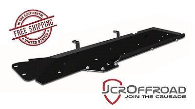JCR Offroad Gas Tank Skid Plate - Black PC - fits 07-18 Jeep Wrangler JK 4 Door