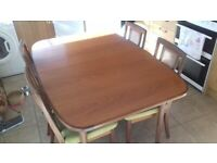 G Plan extending table and 6 chairs