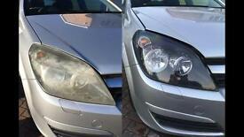 Headlight Restoration. Volvo V50, 2002, 2003, 2004, 2005, 2006, 2007