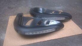 Motorbike LED Light Handle Brush Bar Hand Guard Protector Black