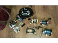 Fishing Reels and Various Other Items