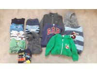 BUNDLE OF BOYS JUMPERS/TOPS/HOODIES (Age 2-3)