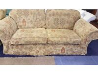 Three Seater Tapestry Fabric Sofa