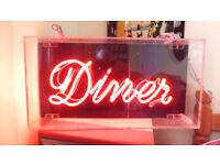 huge Neon original DINER shop sign