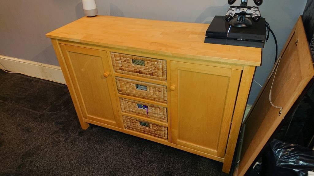 Solid Wood Living Room Furniture 1x Bureau 2x Coffee Tables 3x