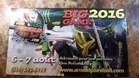 Admission pour le big game Arnold Paintball 2016