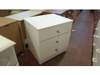 Modern White Chest of Drawers with Metal Handles