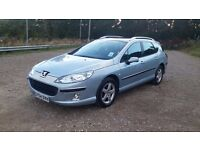 54 plate Peugeot 407 sw 1.6 hdi estate low mileage