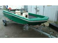 Dory boat with great trailer
