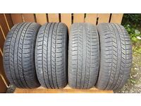 Full set of Goodyear Wrangler 255 x 55 x 19 Jeep Tyres.