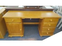 Julian Bowen Pickwick Solid Pine 5 Drawer 1 Cupboard Double Dressing Table Can Deliver