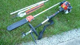 2 in 1 Extendable Chainsaw & Hedge Trimmer.