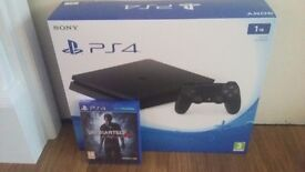 NEW unboxed ps4 slim 1tb and Unwrapped uncharted 4
