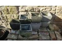 reclaimed vintage granite planters