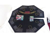 table top poker table & accessories.