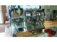 Markus Expobar 2 group espresso machine with built in grinder