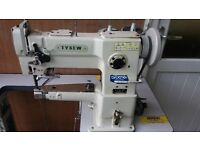 TYSEW MARK 5 WALKING FOOT INDUSTRIAL SEWING MACHINE C/W TABLE