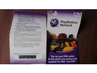 PlayStation network card £20 top up value Ps3 PsP PsN