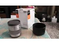 Sony E 50mm F1. 8 OSS lens silver boxed and papers