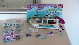 Lego 41015 Dolphin Cruiser - Complete with Box & Instructions. Partly made, last 2 bags still sealed