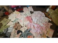 Bundle of baby girls clothes