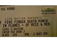 Five Finger Death Punch ticket Glasgow Hydro