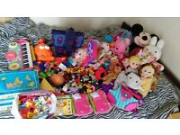 Huge Bundle/Job Lot of Children's Toys, Books and Teddies Incl. McDonalds,ScoobyDoo,Hello Kitty