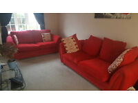 2 & 3 seater sofa's in Red