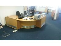Reception Desks - Reception Console - Large Beech unit