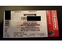 Guns N' Roses Not in this Lifetime Tickets - Fri 16th June - GOLDEN CIRCLE
