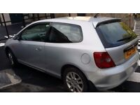 Honda Civic 1.6i VTEC SE Sport Hatchback with full year MOT. Extremely reliable car that runs well.