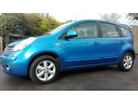 Nissan Note 1.6 16v Acenta 5dr, FSH, Full electrics, Aircon, Bluetooth, CD player, AUX, Alloys, PS..