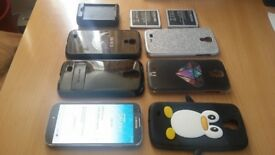 Samsung Galaxy S4 Working but cracked screen - many accessories