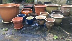 Selection of garden pots / planters