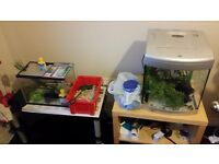 2 small fish tanks with all accesories £45 the lot