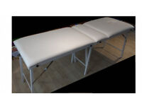Portable padded folding massage table with carrying case