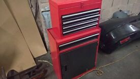 red toolbox tool chest without tools as new